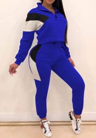 Short Front Zipper Long Sleeve Tops and Pants