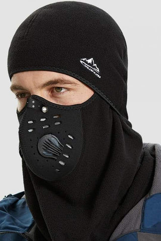 Full Face Respirator Fleece Face Mask and Black Bucket Hat Protection Visor Mask