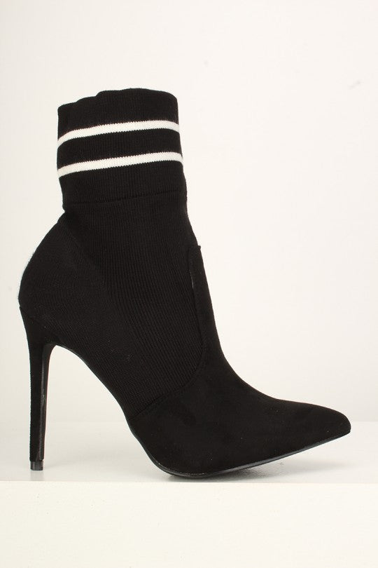 Sexy Sock Ankle Booties Faux Suede