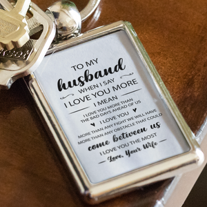 To My Husband Keychain
