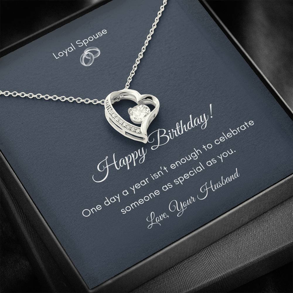 To My Mom - Heart Pendant Cubic Zirconia Necklace