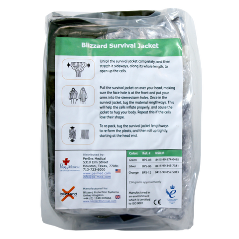 PerSys Medical - Blizzard Survival Jacket - Vert