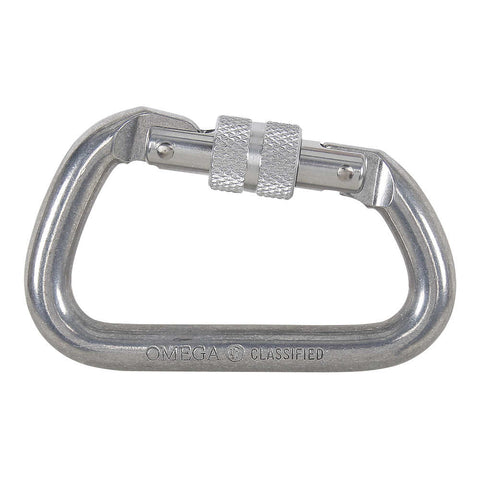 "NRS - Omega Modified D 1/2"" Aluminum Screw-Lok Carabiner"