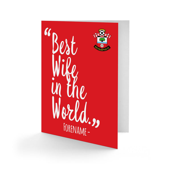 Southampton Best Wife In The World Card
