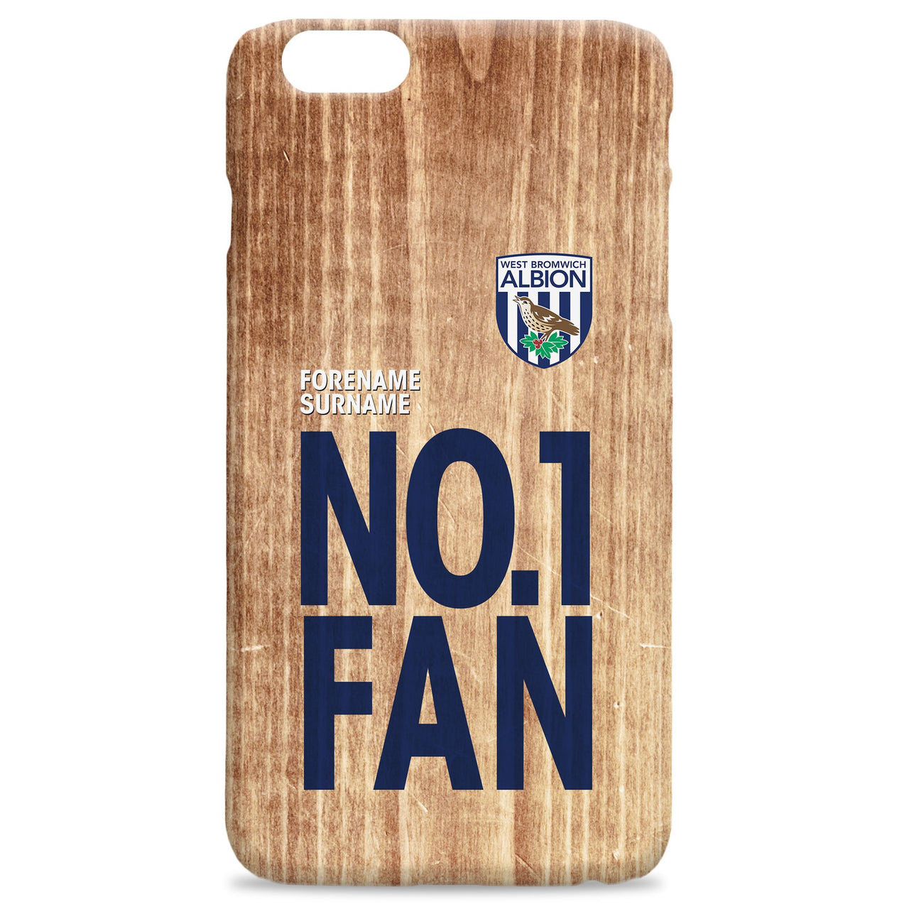 West Bromwich Albion No 1 Fan Hard Back Phone Case, Gifts