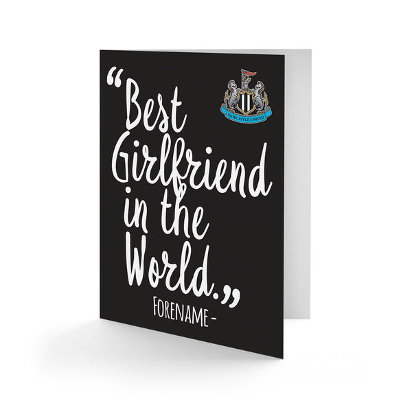 Newcastle United Best Girfriend In The World Card