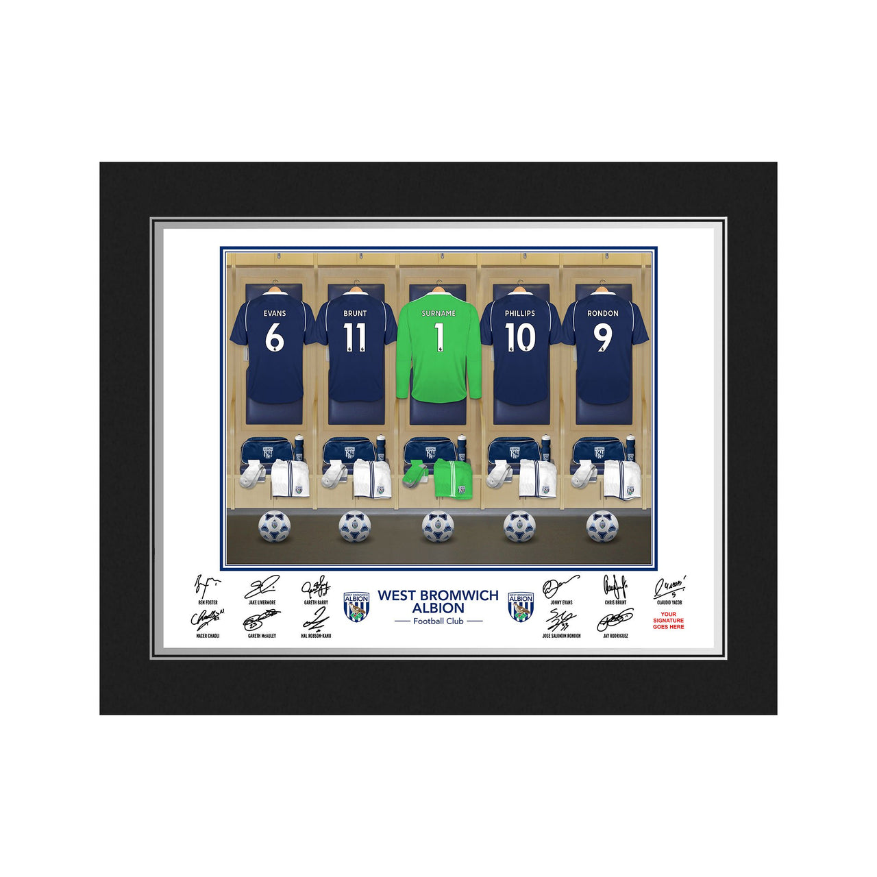 WBAFC Goalkeeper Dressing Room Photo Folder