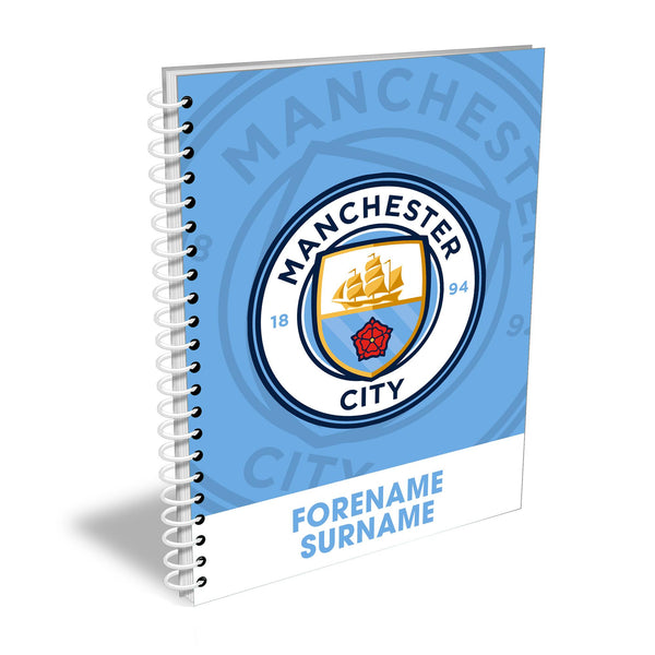 Manchester City FC Bold Crest Notebook