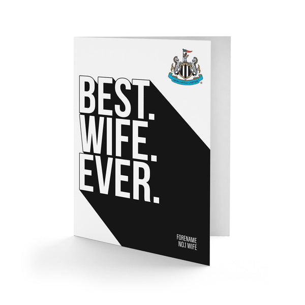 Newcastle United Best Wife Ever Card