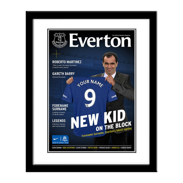 Everton FC Magazine Front Cover Framed Print