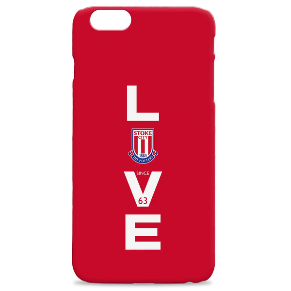 Stoke City FC Love Hard Back Phone Case, Gifts