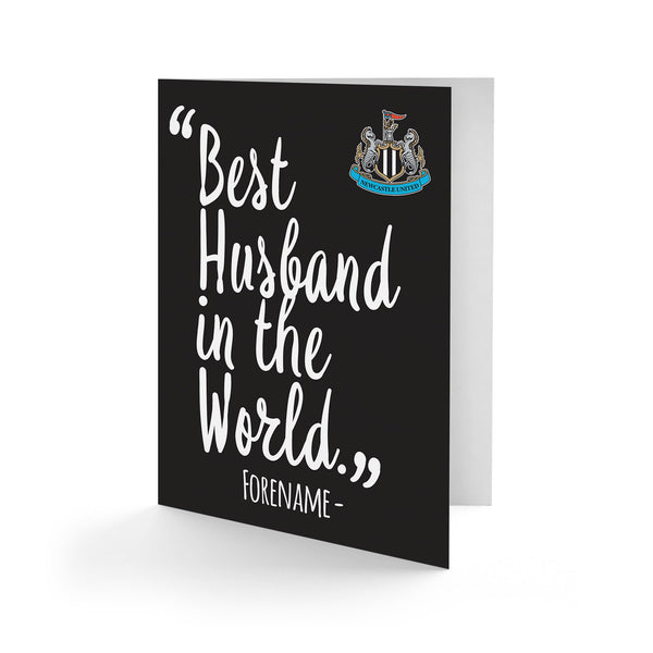Newcastle United Best Husband In The World Card