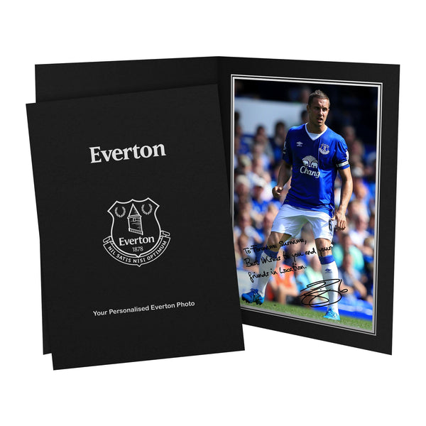 Everton FC Jagielka Autograph Photo Folder