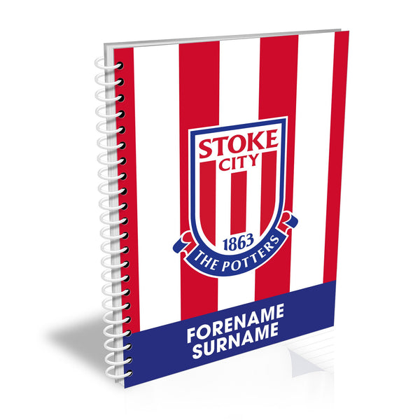 Stoke City FC Bold Crest Notebook