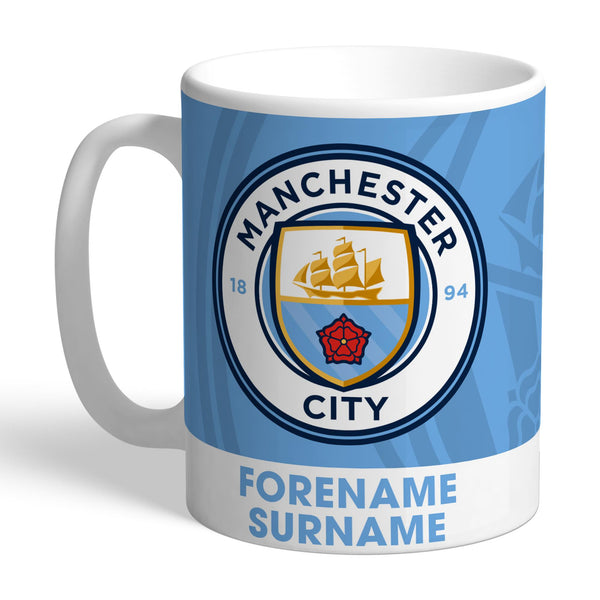 Manchester City FC Bold Crest Mugs, Gifts