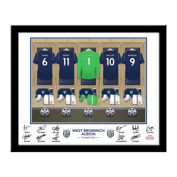 WBAFC Goalkeeper Dressing Room Framed Print