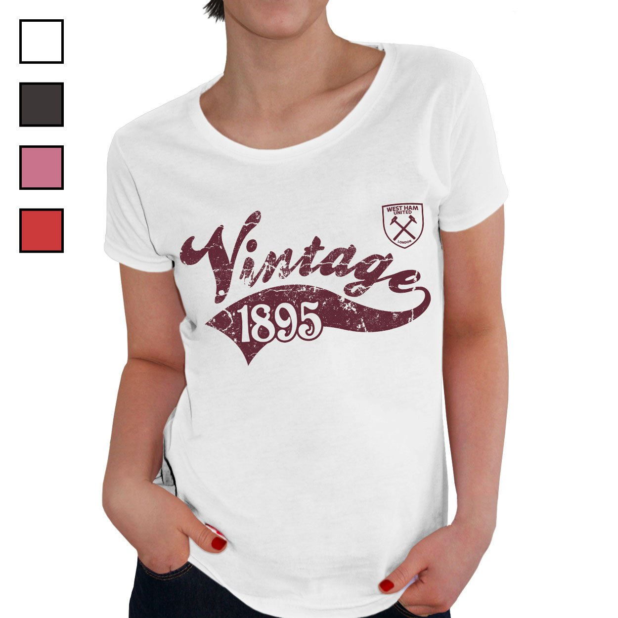 West Ham United FC Ladies Vintage T-Shirt