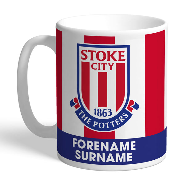 Stoke City FC Bold Crest Mugs, Gifts