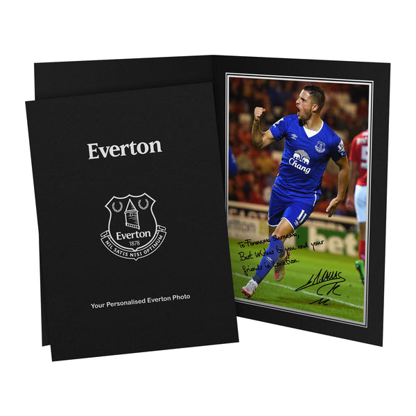 Everton FC Mirallas Autograph Photo Folder