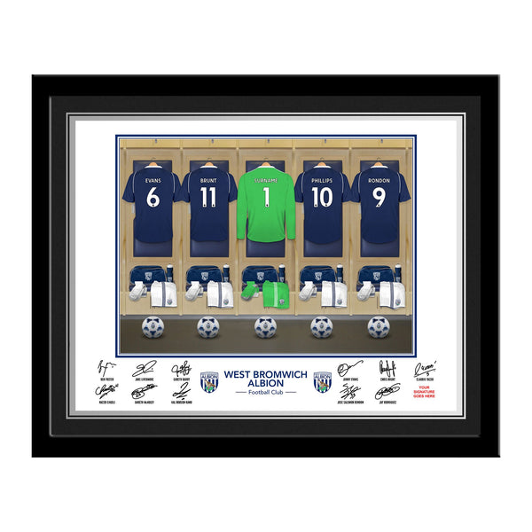 WBAFC Goalkeeper Dressing Room Photo Framed