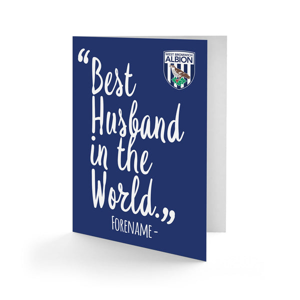 West Bromwich Albion Best Husband In The World Card