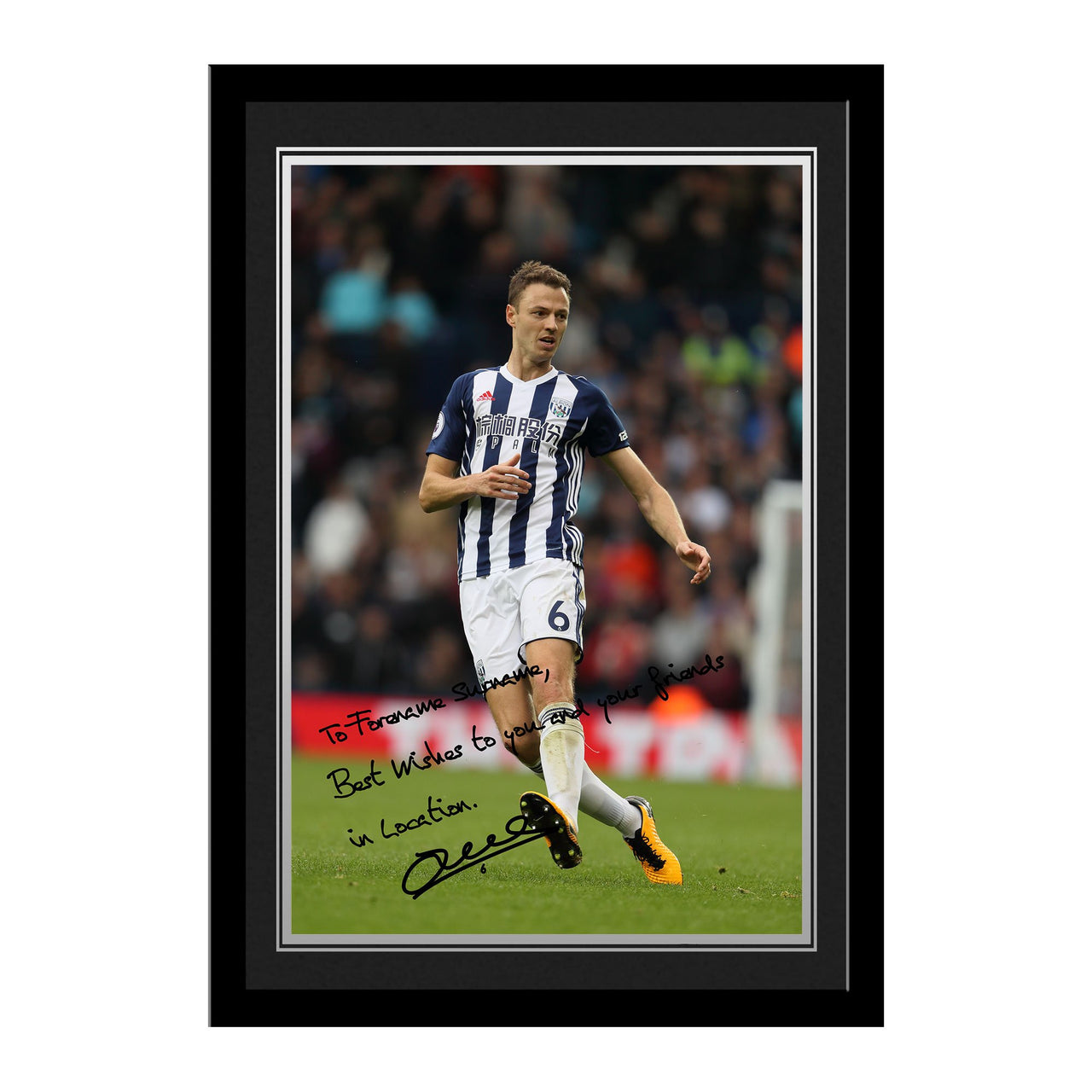 West Bromwich Albion FC Evans Autograph Photo Framed