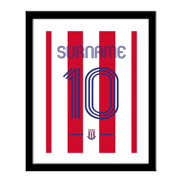 Stoke City Retro Shirt Print