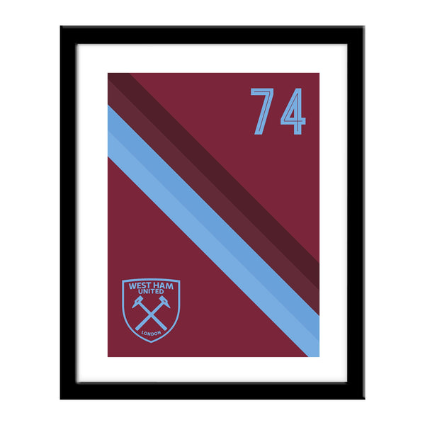 West Ham United Stripe Print