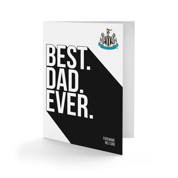 Newcaslte United Best Dad Ever Card