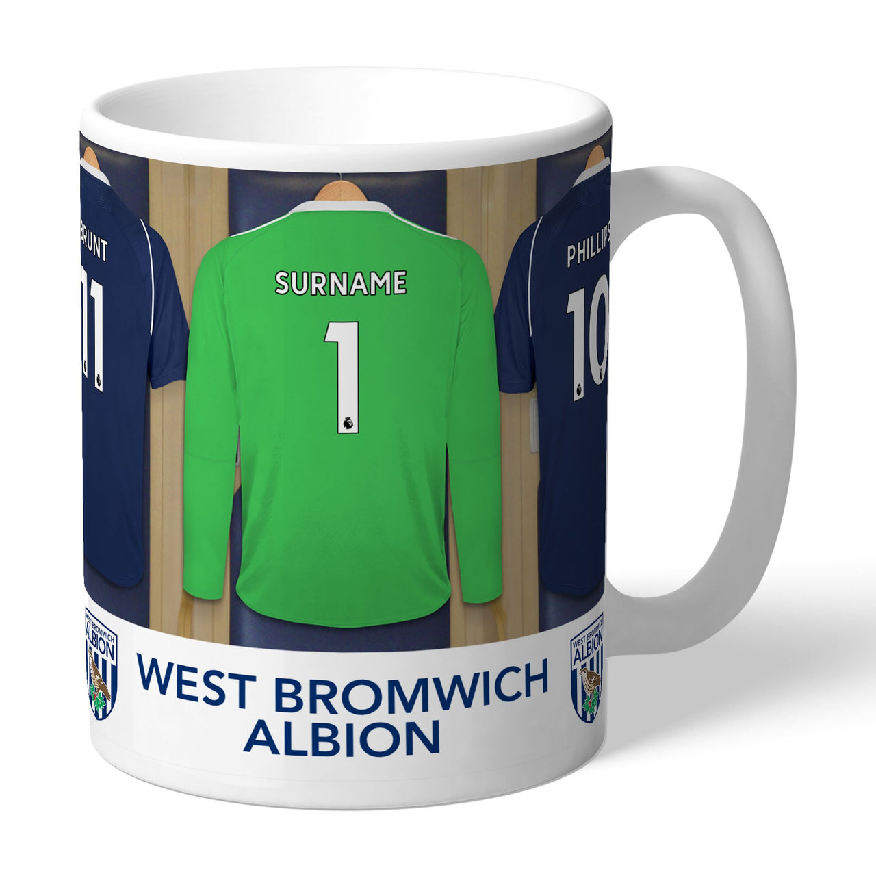 West Bromwich Albion FC Goalkeeper Dressing Room Mugs, Gifts