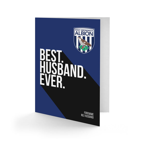 West Bromwich Albion Best Husband Ever Card