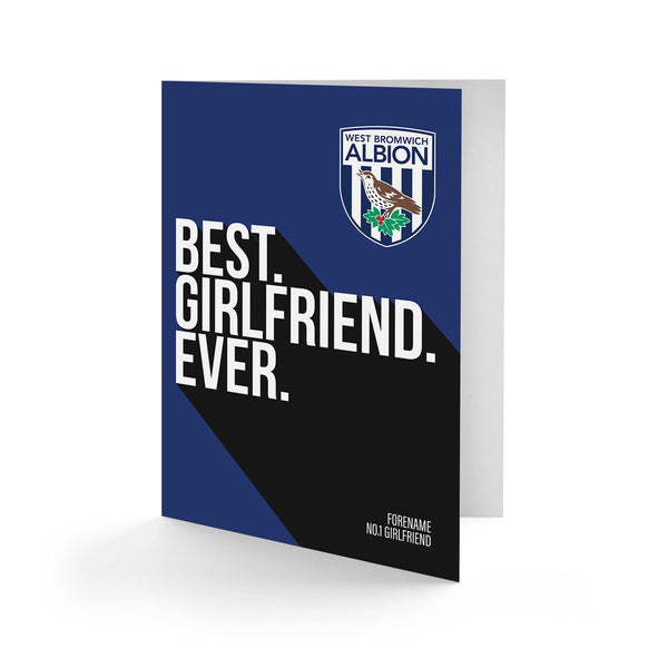 West Bromwich Albion Best Girlfriend Ever Card