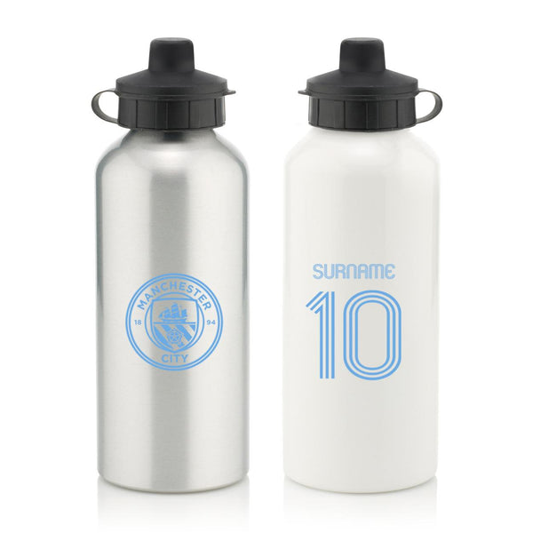 Manchester City Retro Shirt Water Bottle