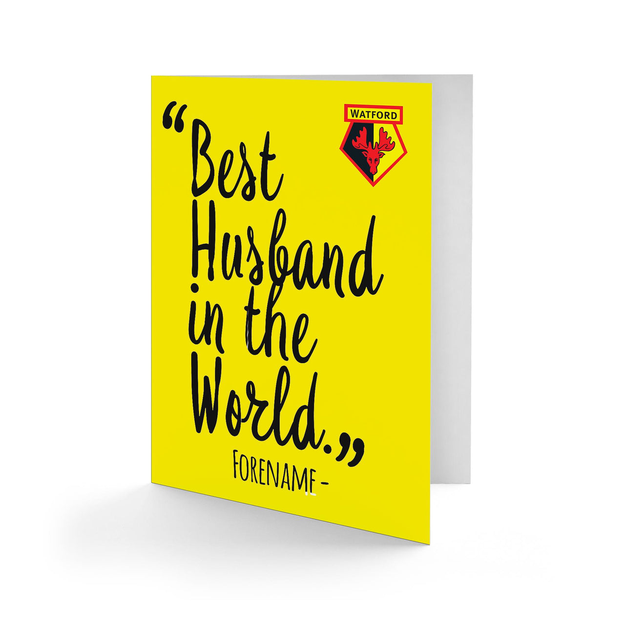 Watford Best Husband In The World Card