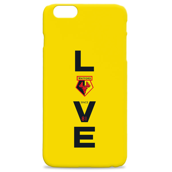 Watford FC Love Hard Back Phone Case, Gifts
