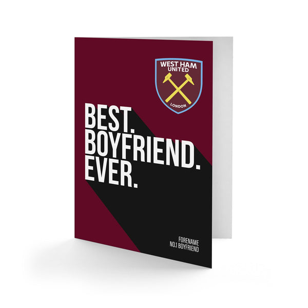 West Ham United Best Boyfriend Ever Card
