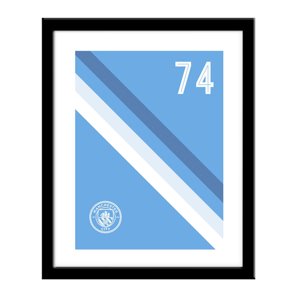 Manchester City Stripe Print