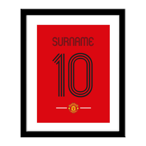 Manchester United Retro Shirt Print