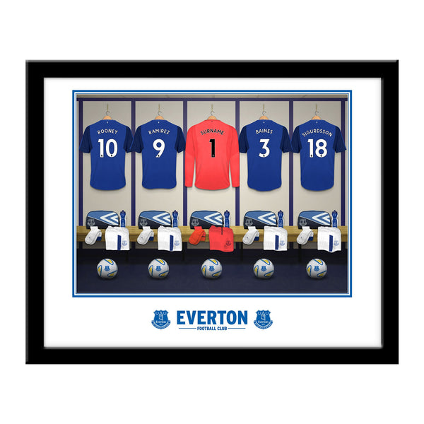 Everton FC Goalkeeper Dressing Room Framed Print