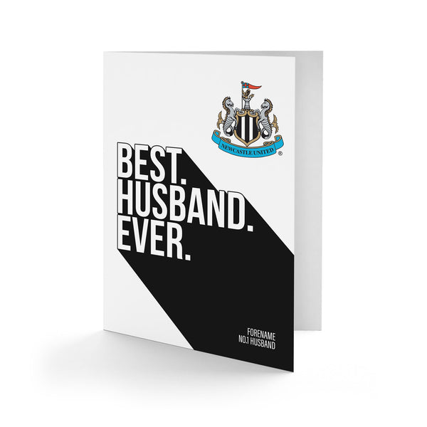 Newcastle United Best Husband Ever Card