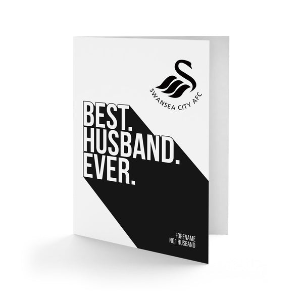 Swansea City Best Husband Ever Card