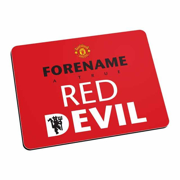 Manchester United Red Devil Mouse Mat (Red)