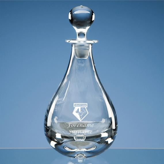 Watford Personalised Crest Wine Decanter