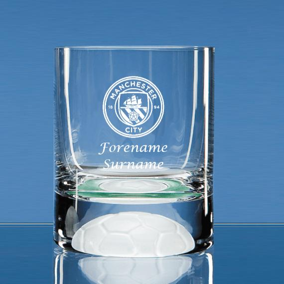 Manchester City Personalised Crest Ball Base Tumbler