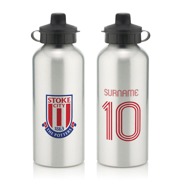 Stoke City Retro Shirt Water Bottle