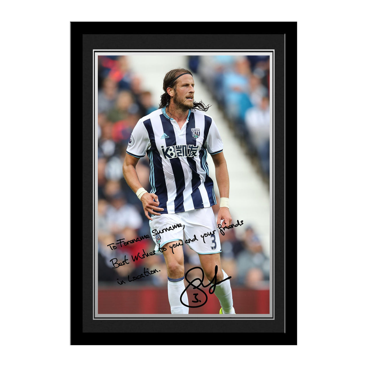 West Bromwich Albion FC Olsson Autograph Photo Framed
