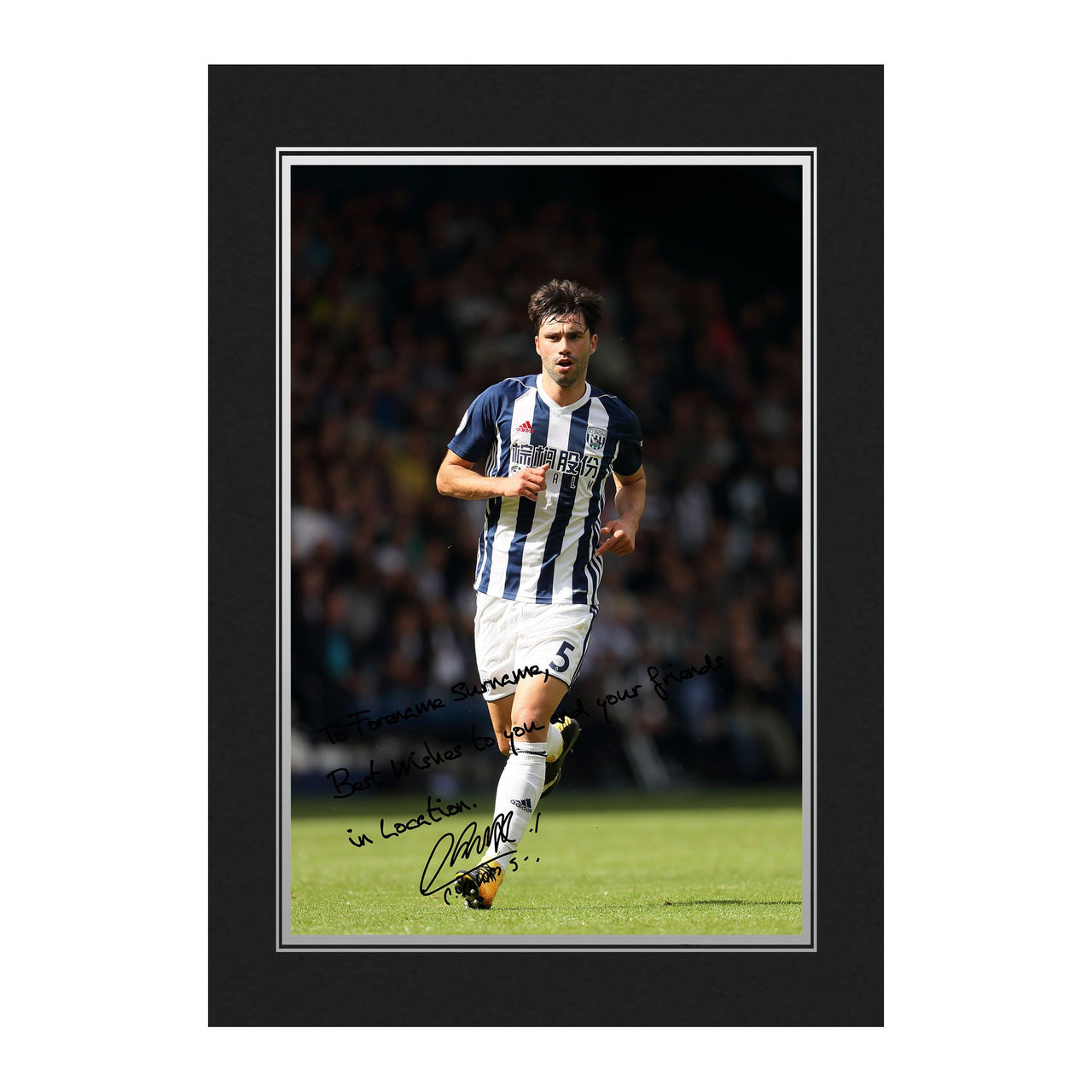 West Bromwich Albion FC Yacob Autograph Photo Folder