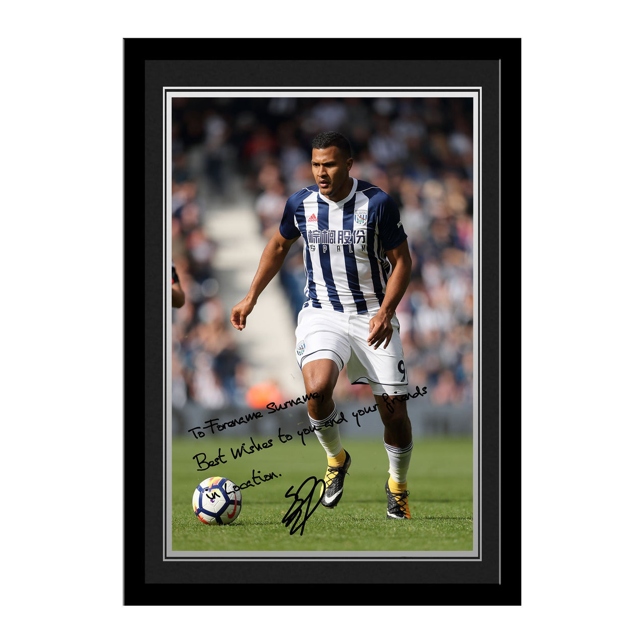 West Bromwich Albion FC Rondon Autograph Photo Framed