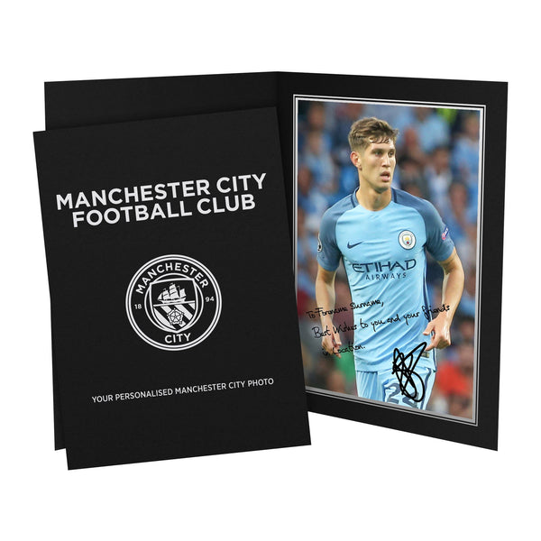 Manchester City FC Stones Autograph Photo Folder