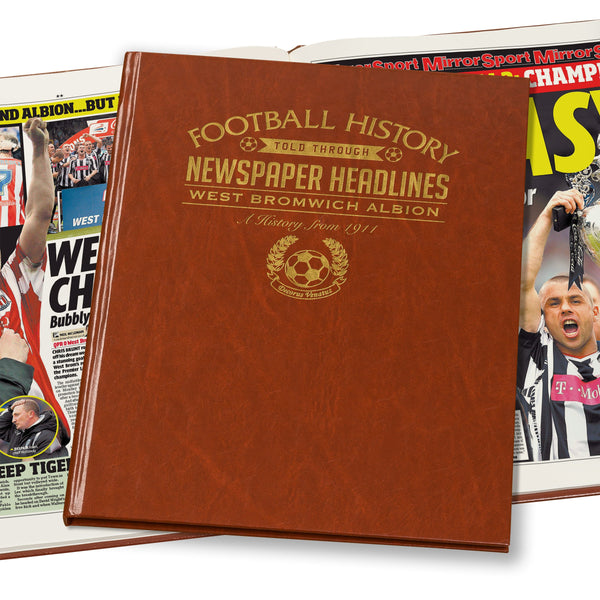 West Bromwich Albion Newspaper Book - Brown Leatherette (Colour Pages)
